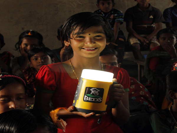 Solar lamps brightened the coastal villager lives in Bangladesh