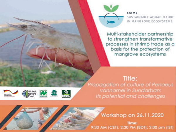 "Webinar on ""Propagation of culture of  Penaeus vennamei in Sundarban: its potential and challenges"""